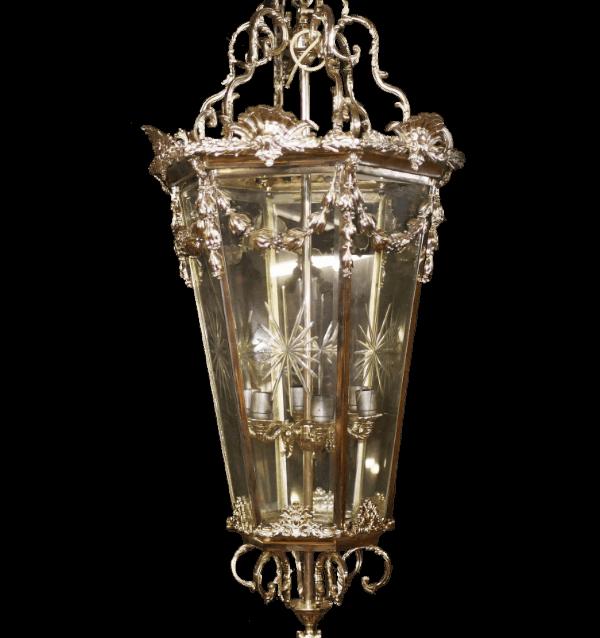Regency Style Silver Plated Lantern