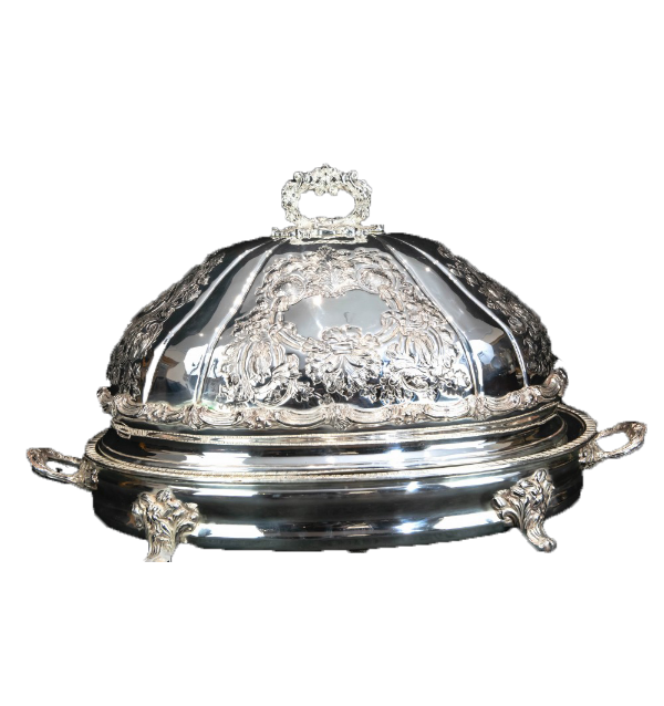 Silver Plated Meat Domed serving Platter
