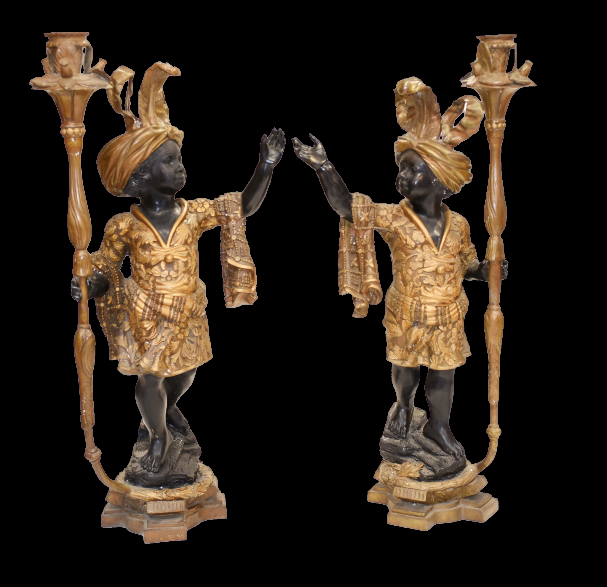 Pair of Bronze Blackamoors