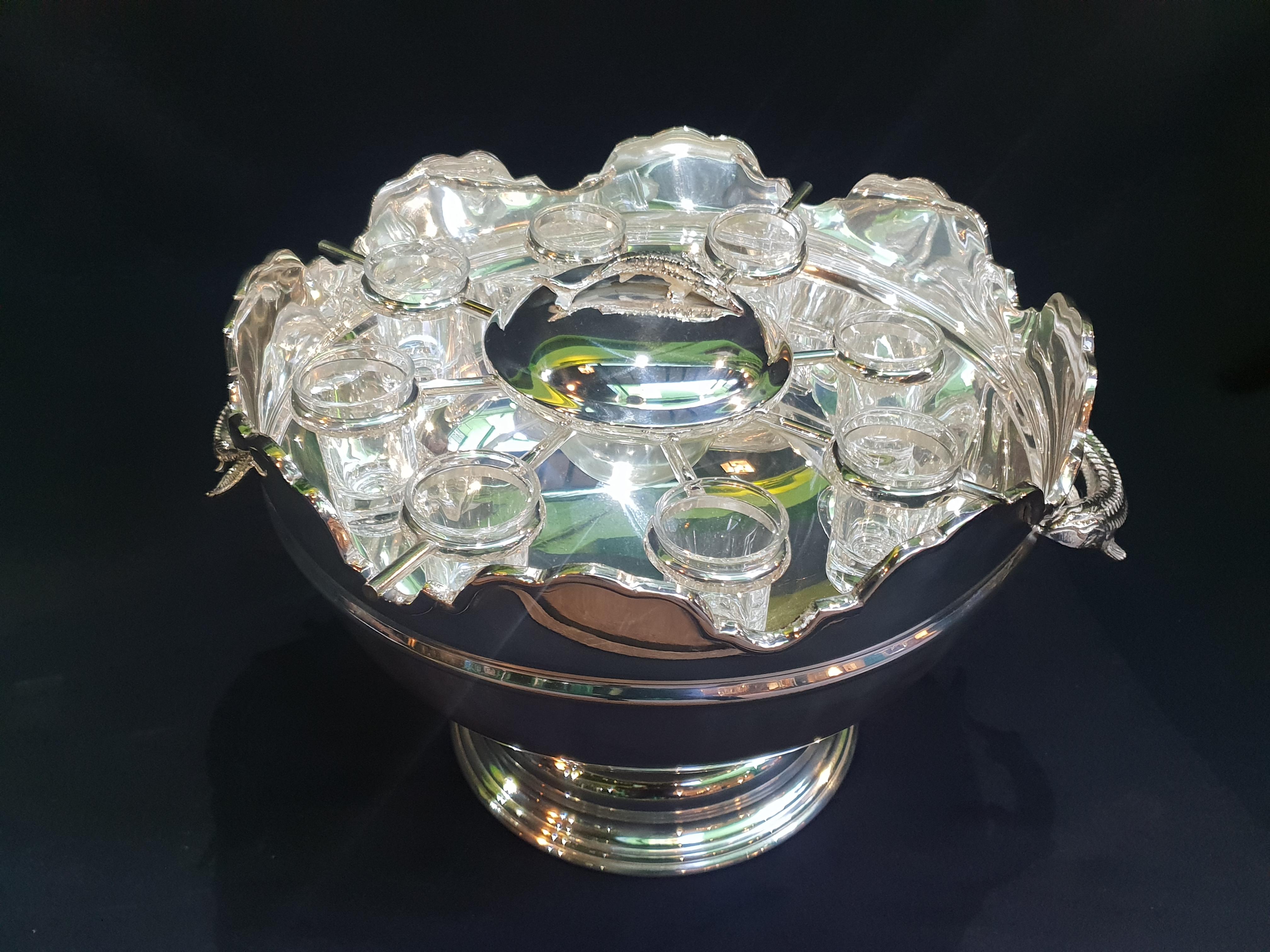 C20th Russian Silver Plated Caviar Bowl