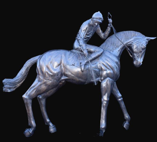Life Size Horse and Jockey