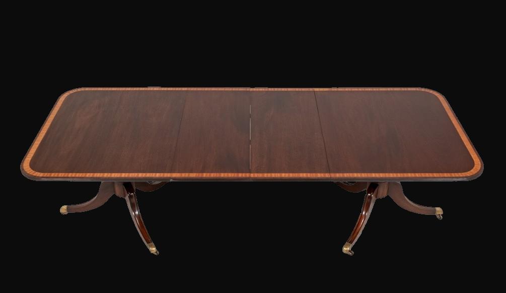 Regency Style Mahogany Dining Table