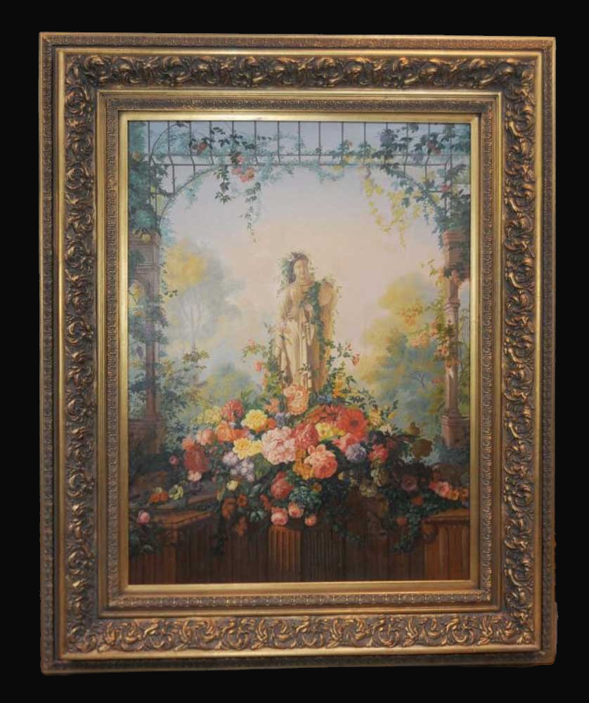 C20th Floral oil Painting