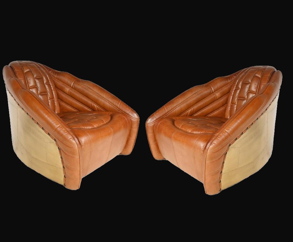 Pair of Aviator Club chairs