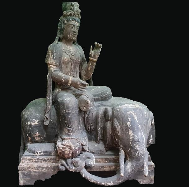 Early C19th Hindu God Seated on Elephant