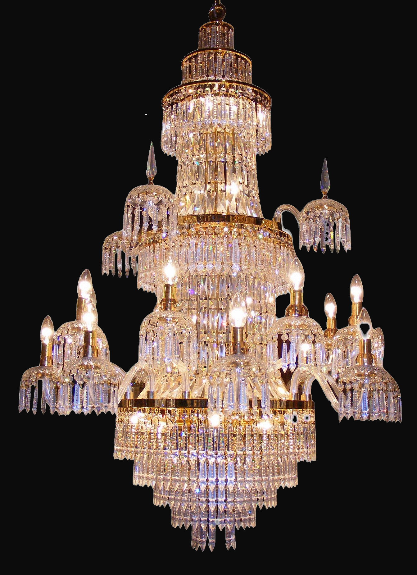 24 Crt Gold Plated Chandelier