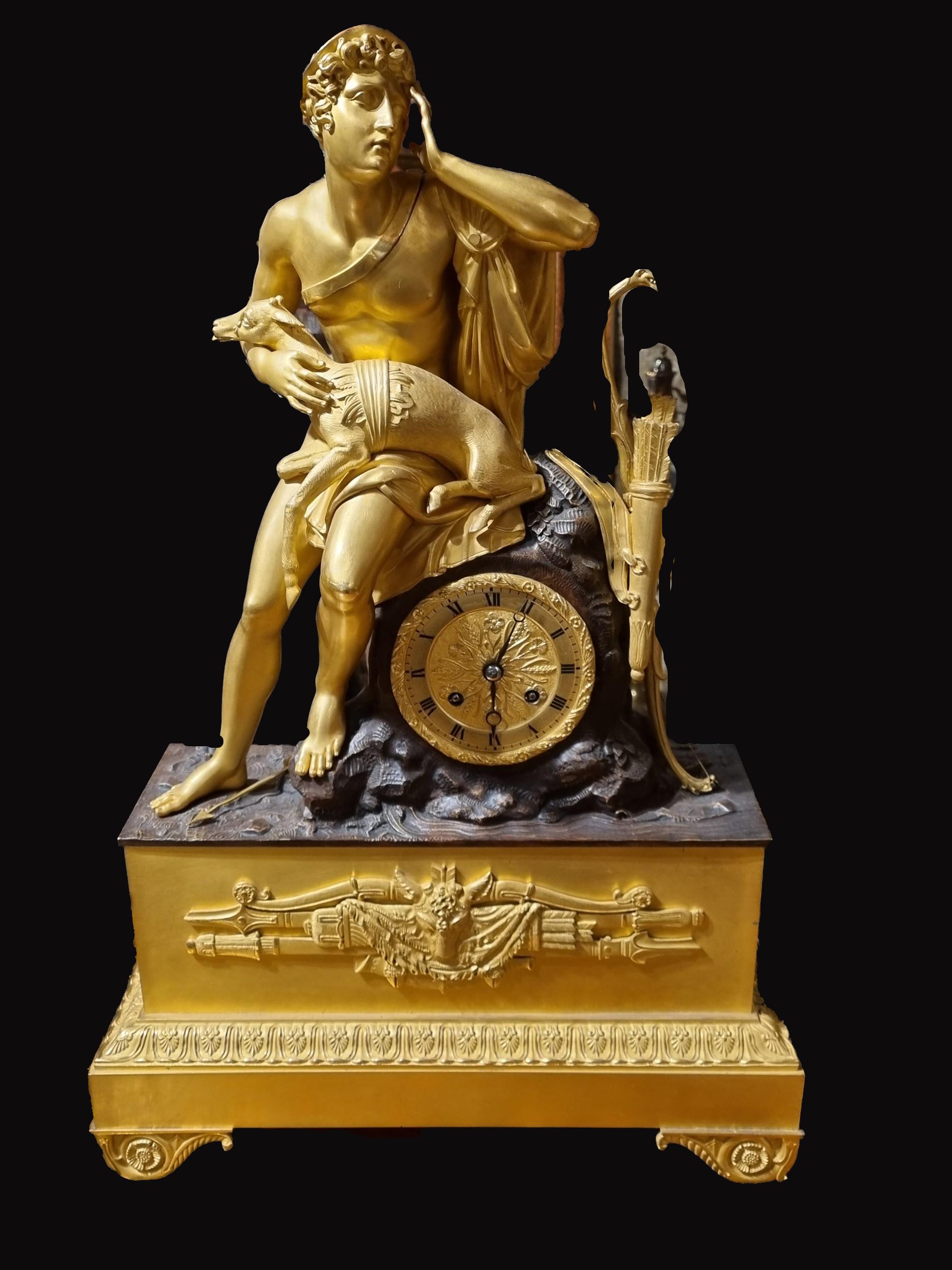 C1830S French Gilt Bronze Mantel Clock