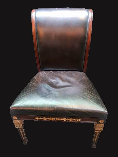 Empire Style Leather Desk Chair