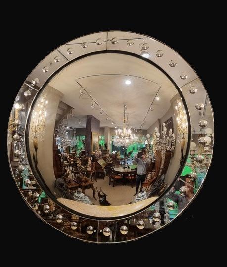 Large Regency Style Convex Mirror