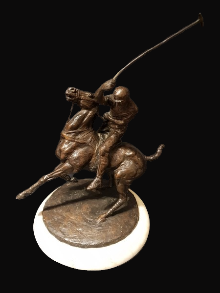 C1960s Bronze Polo Player by L. Mckean