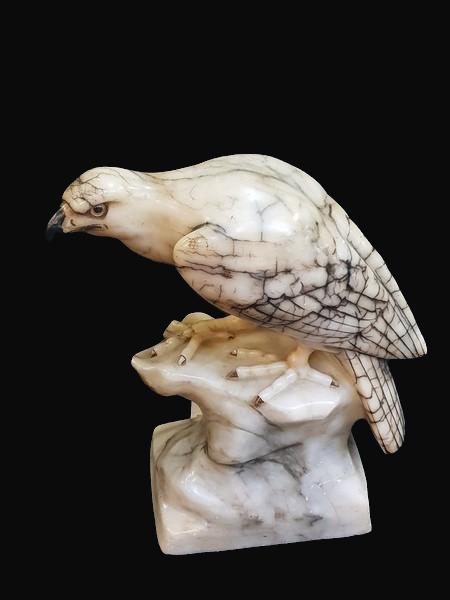 C19th Alabaster Falcon