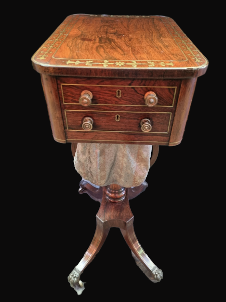 C19th Rosewood Sewing Table