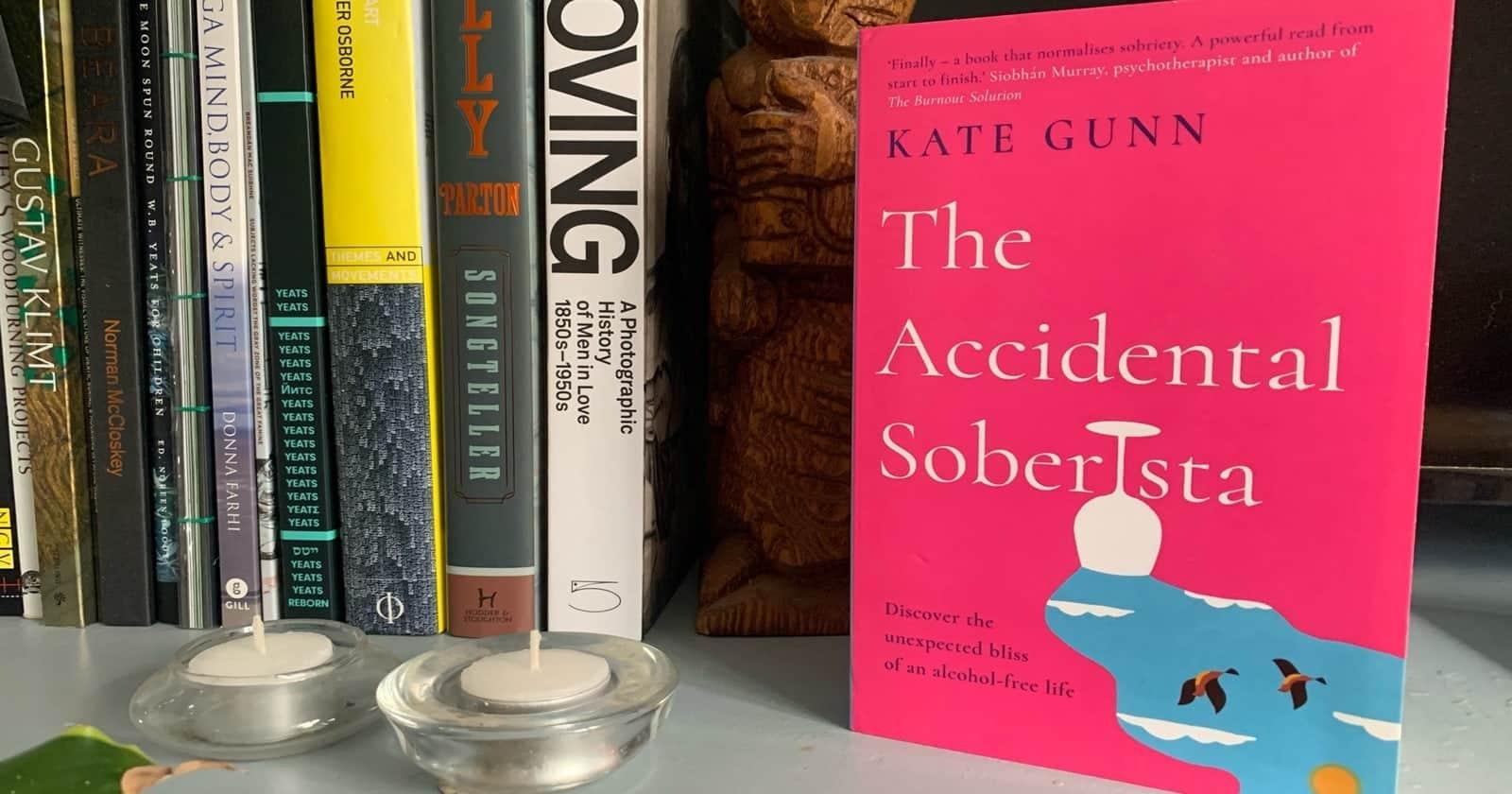 The Accidental Soberista on a bookshelf