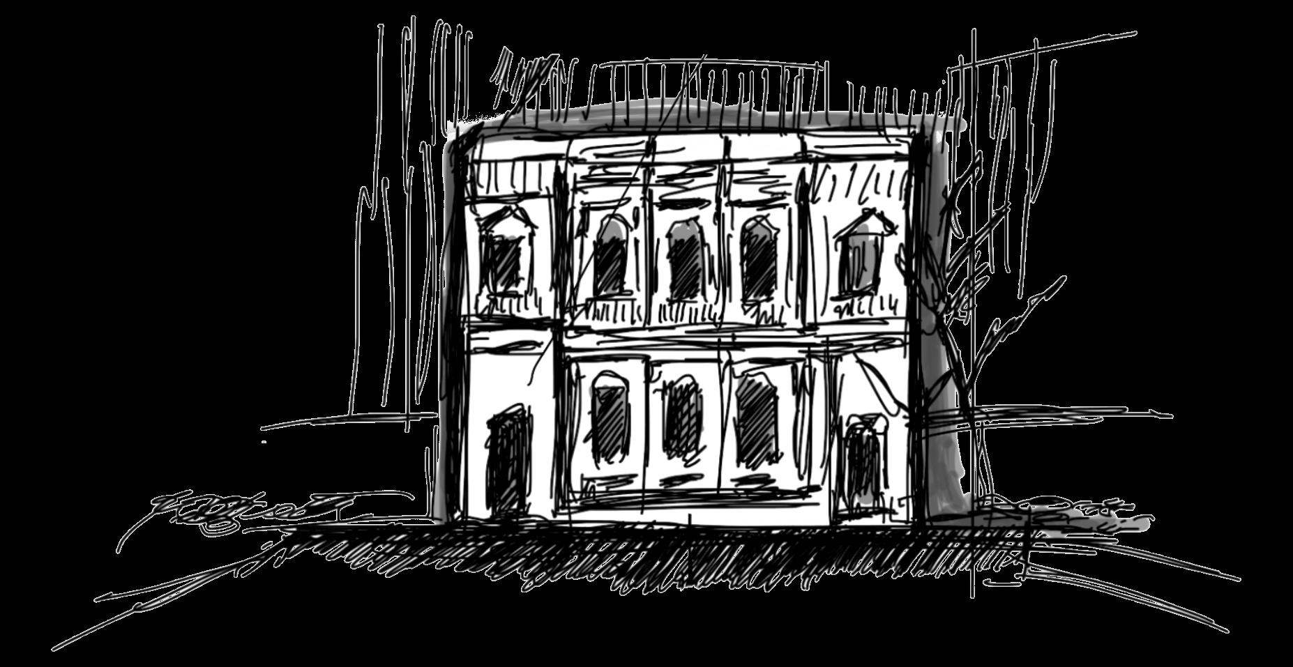 Sketch of the University of Melbourne School of Design