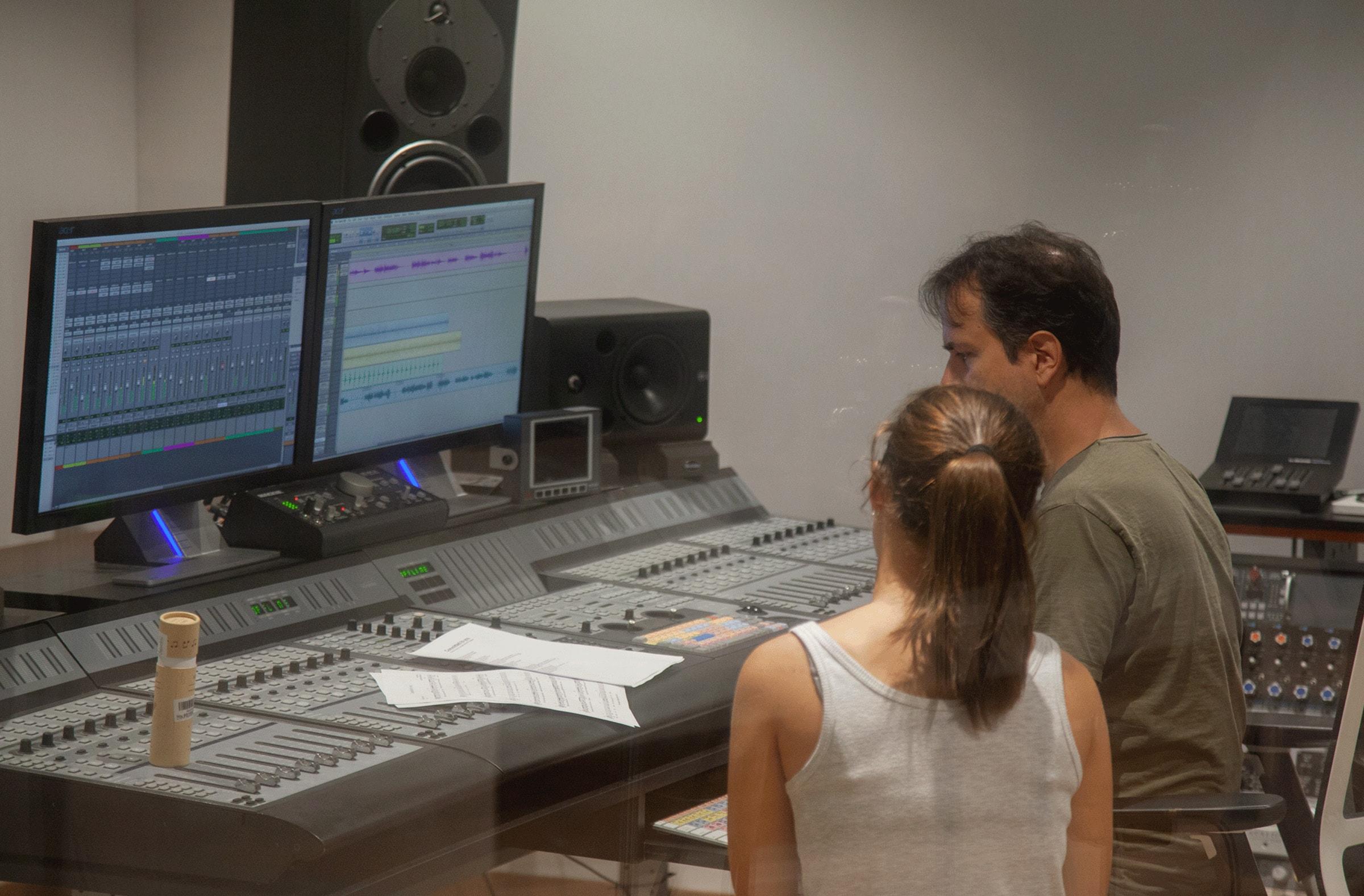 Fotografía de nuestro estudio de grabación
