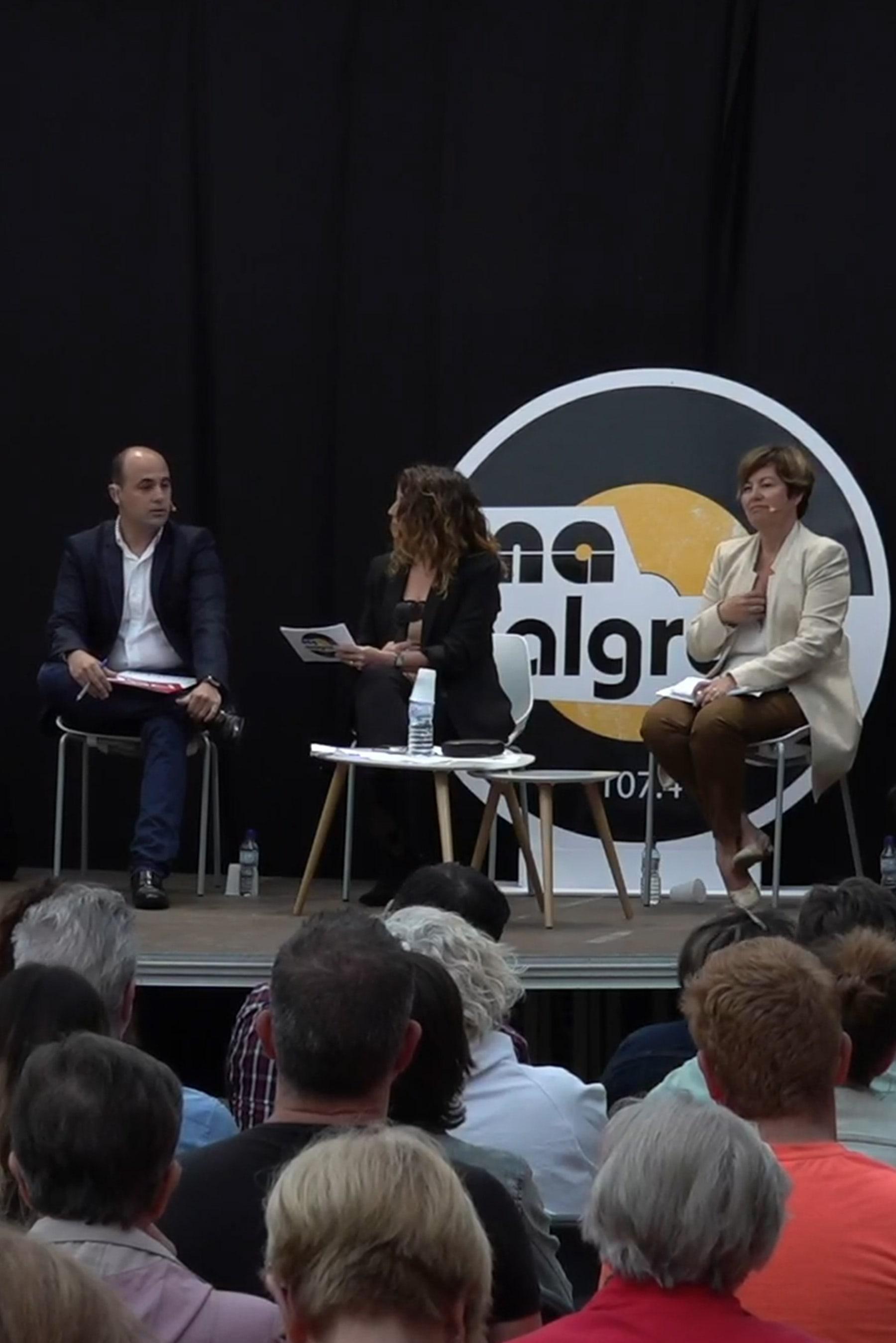 Fotografía del debate electoral de Malgrat de Mar durante las elecciones municipales