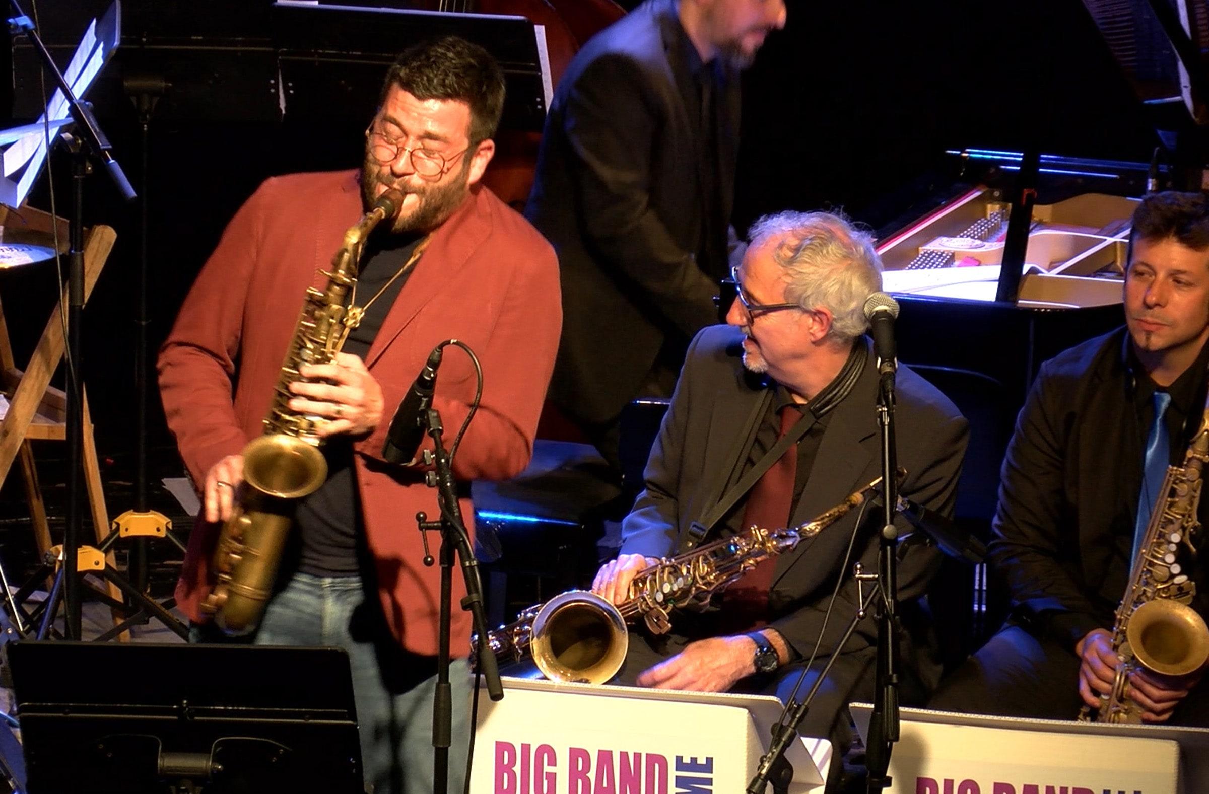 Fotografía de un concierto de la Big Band Jazz Maresme