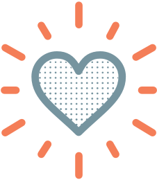 Heart with bursts icon