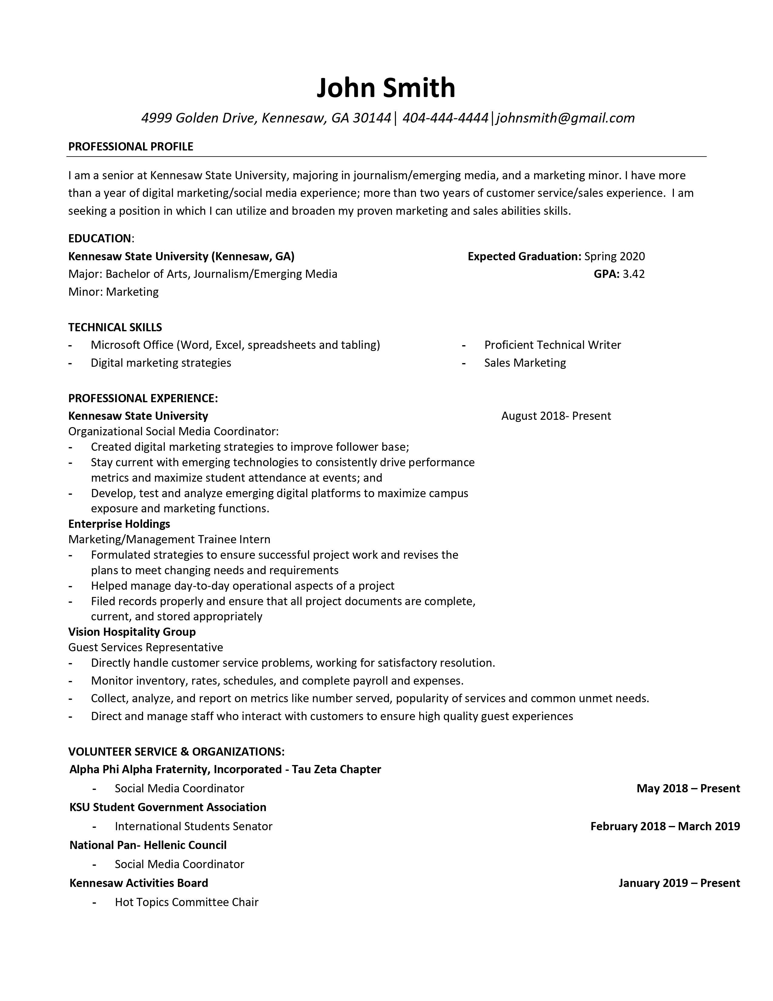Doer Resume