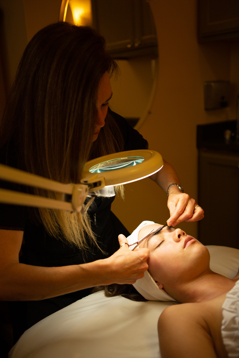 Young woman with esthetician