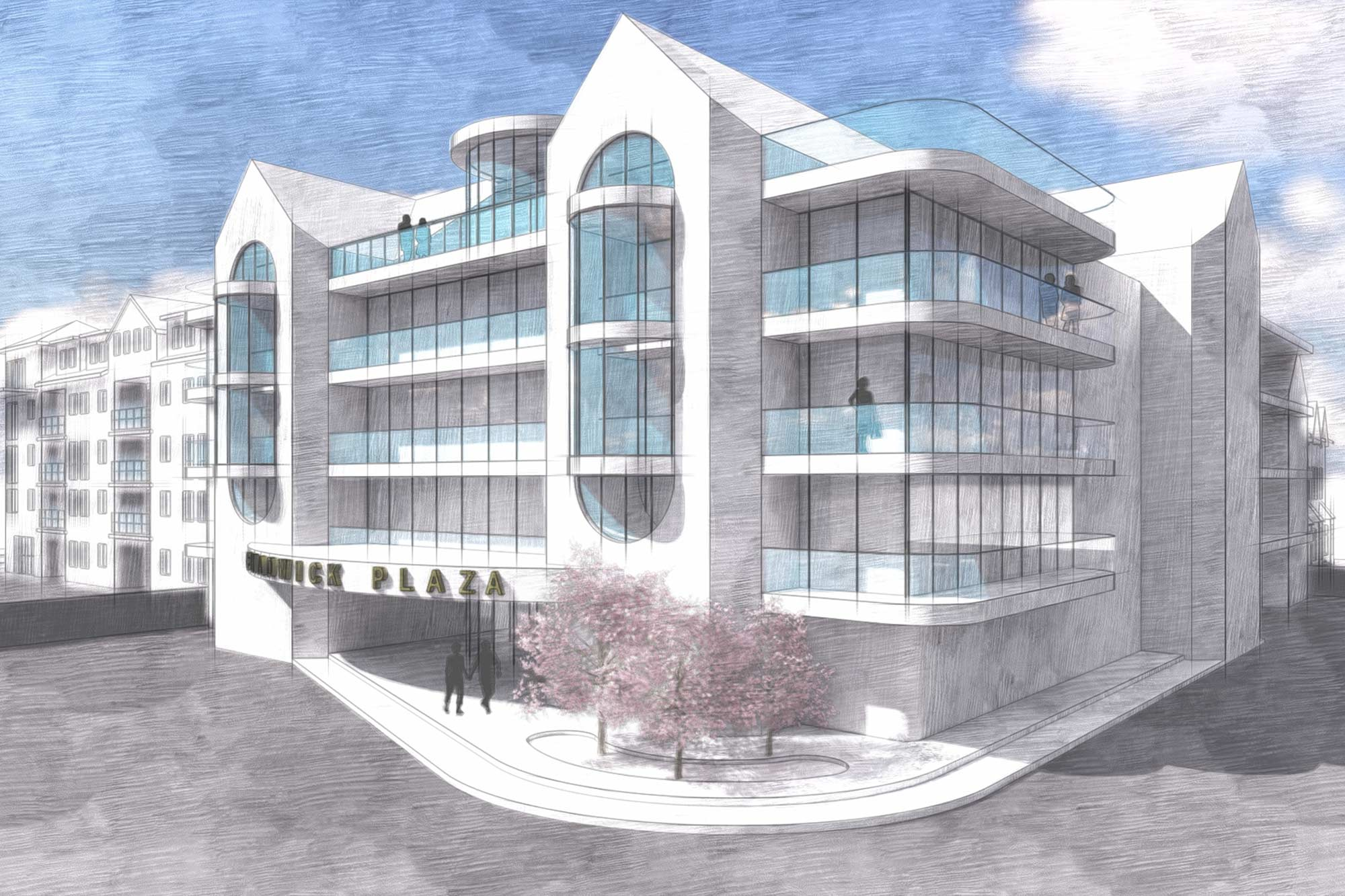 Art Deco Seaside, beachfront apartment block architectural design in Lytham St Annes