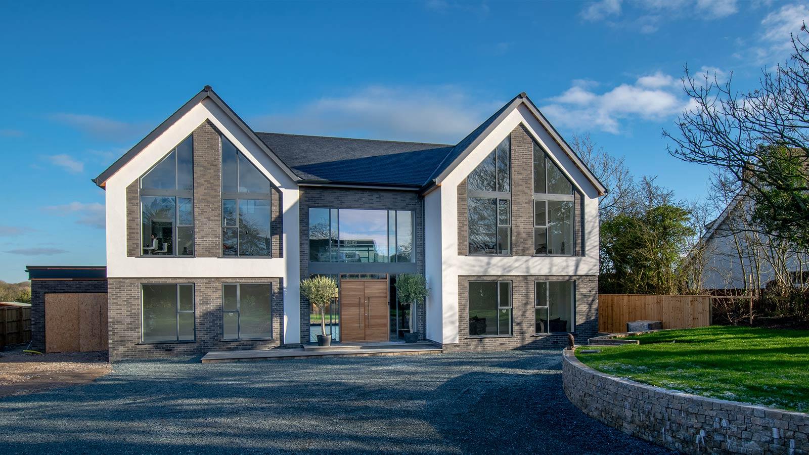Bespoke, detached, contemporary home architectural design in Poulton-le-Fylde, Lancashire