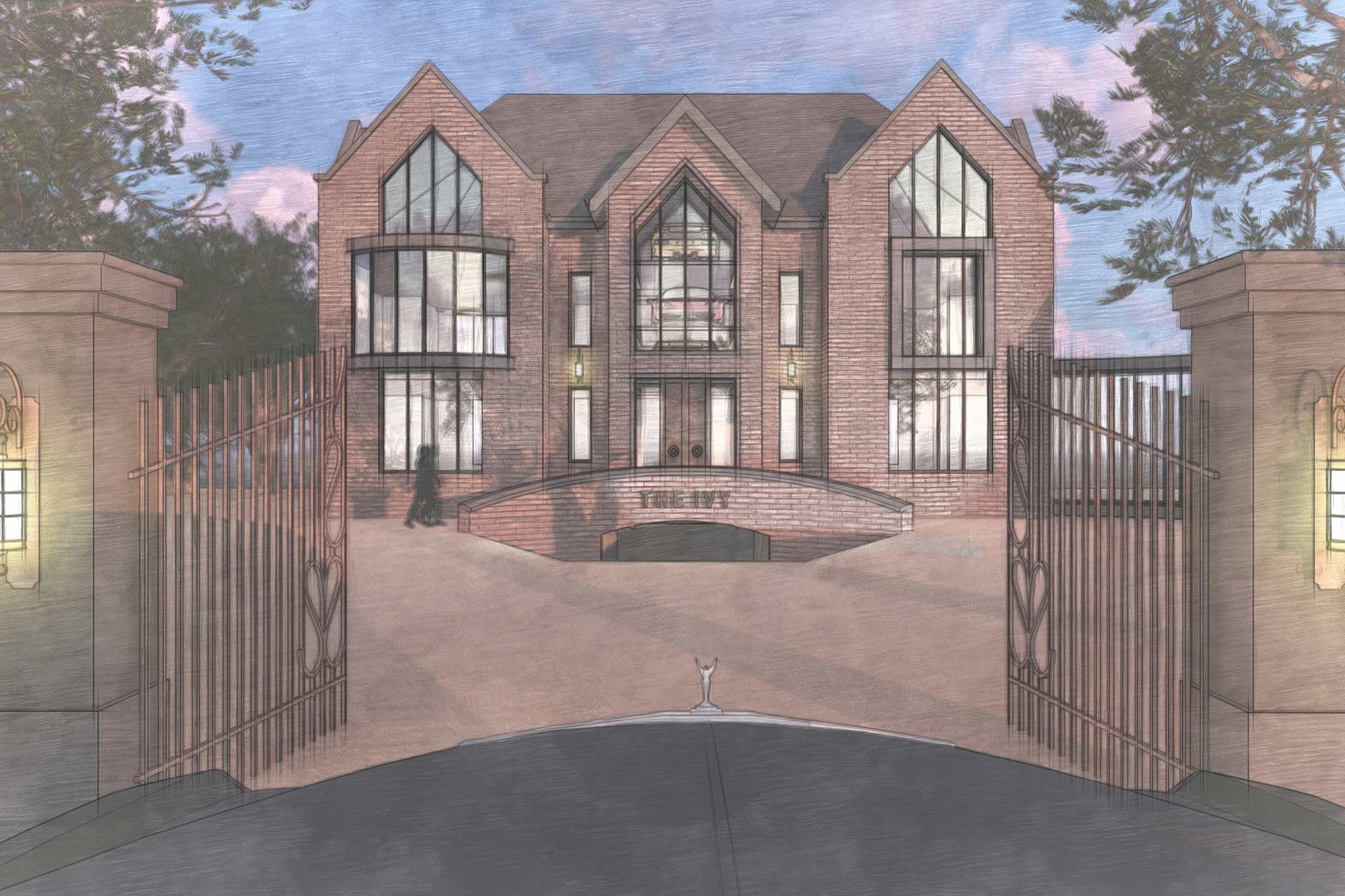 Art Deco themed contemporary countryside manor house architectural design in Lytham St Annes, Lancashire