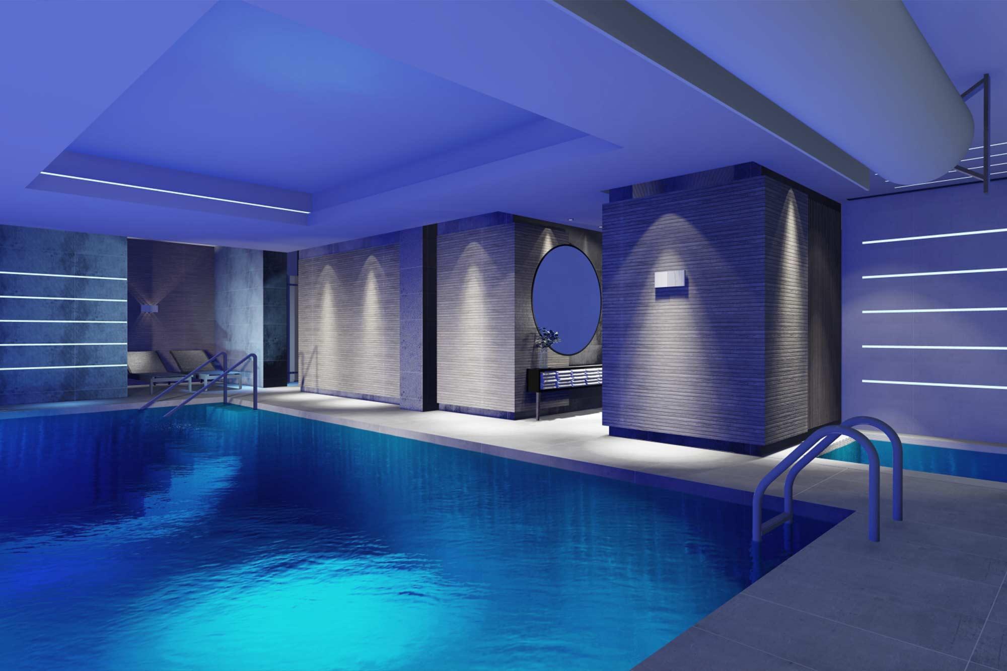 Blackpool Hotel Sheraton swimming pool and SPA extension architectural interior design