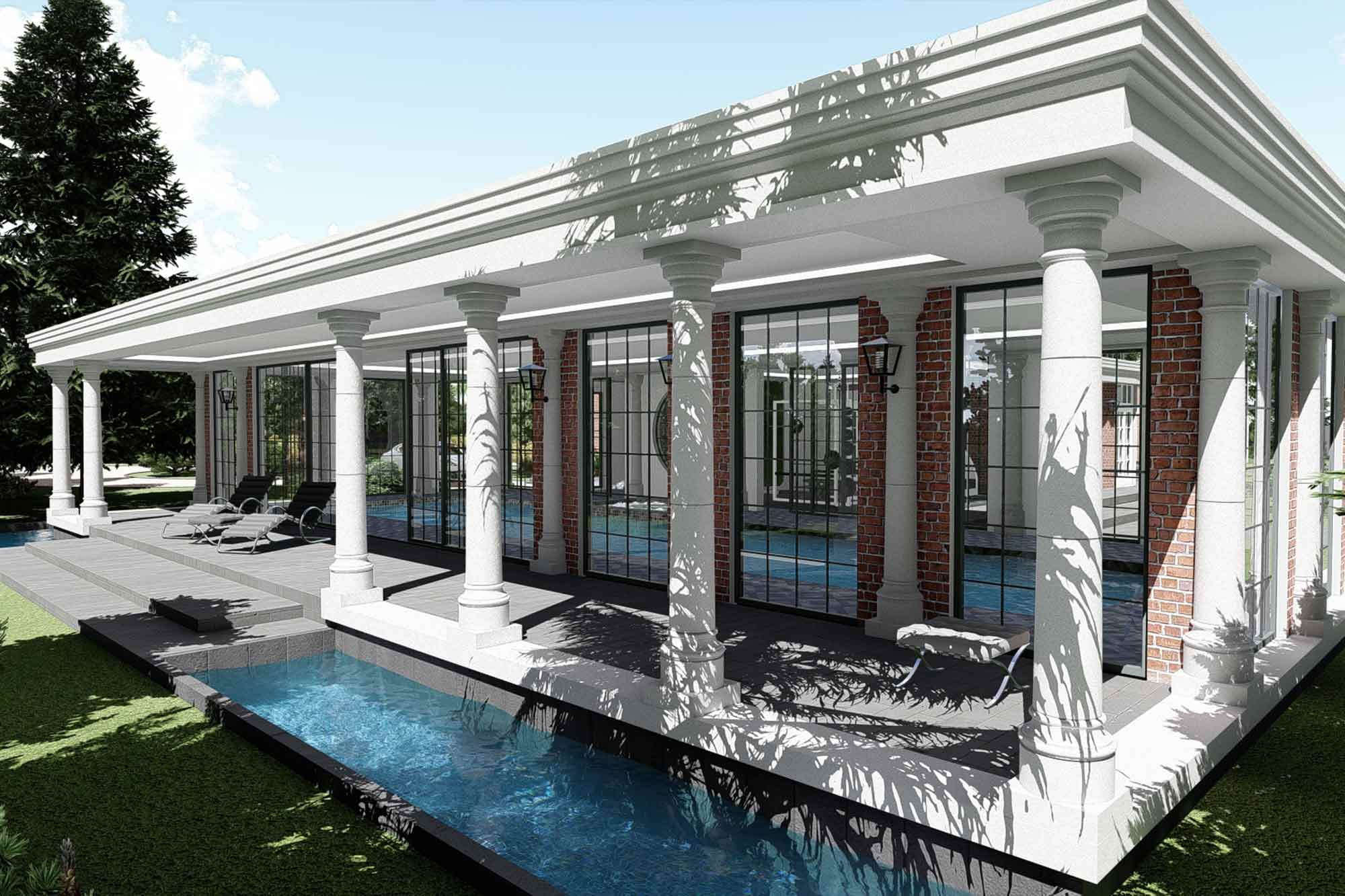 Swimming pool and SPA wing extension to a mansion in Carlton, Poulton-le-Fylde