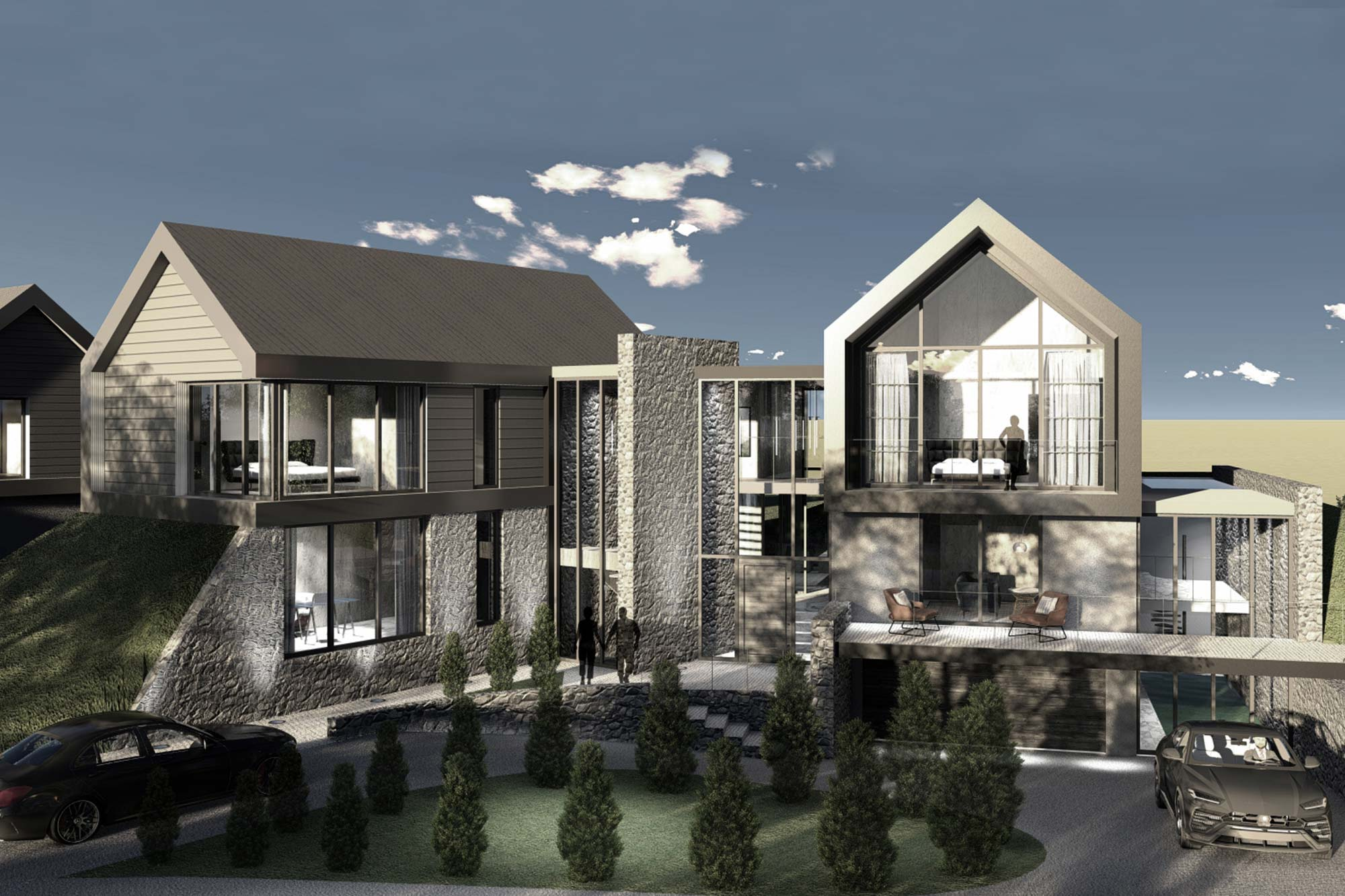 contemporary bespoke home in open countryside architectural design in Poulton-le-Fylde