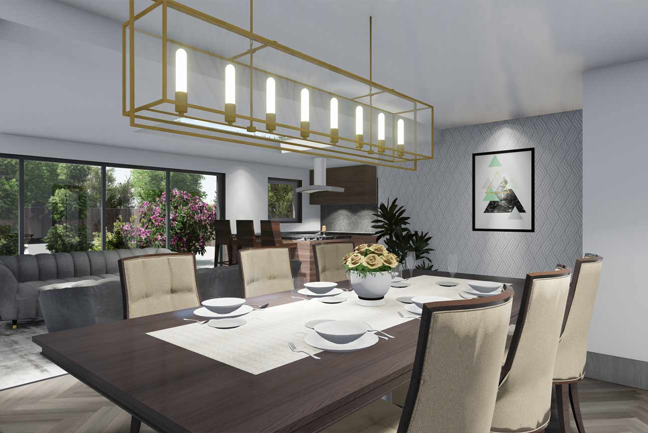 Bungalow extension interior architectural visualisation