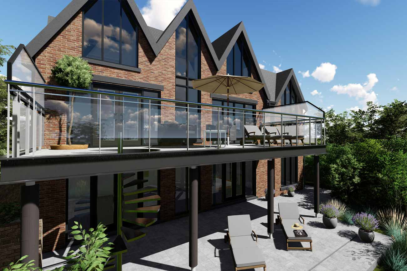 Modern House with sea view balcony in Lytham St'Annes