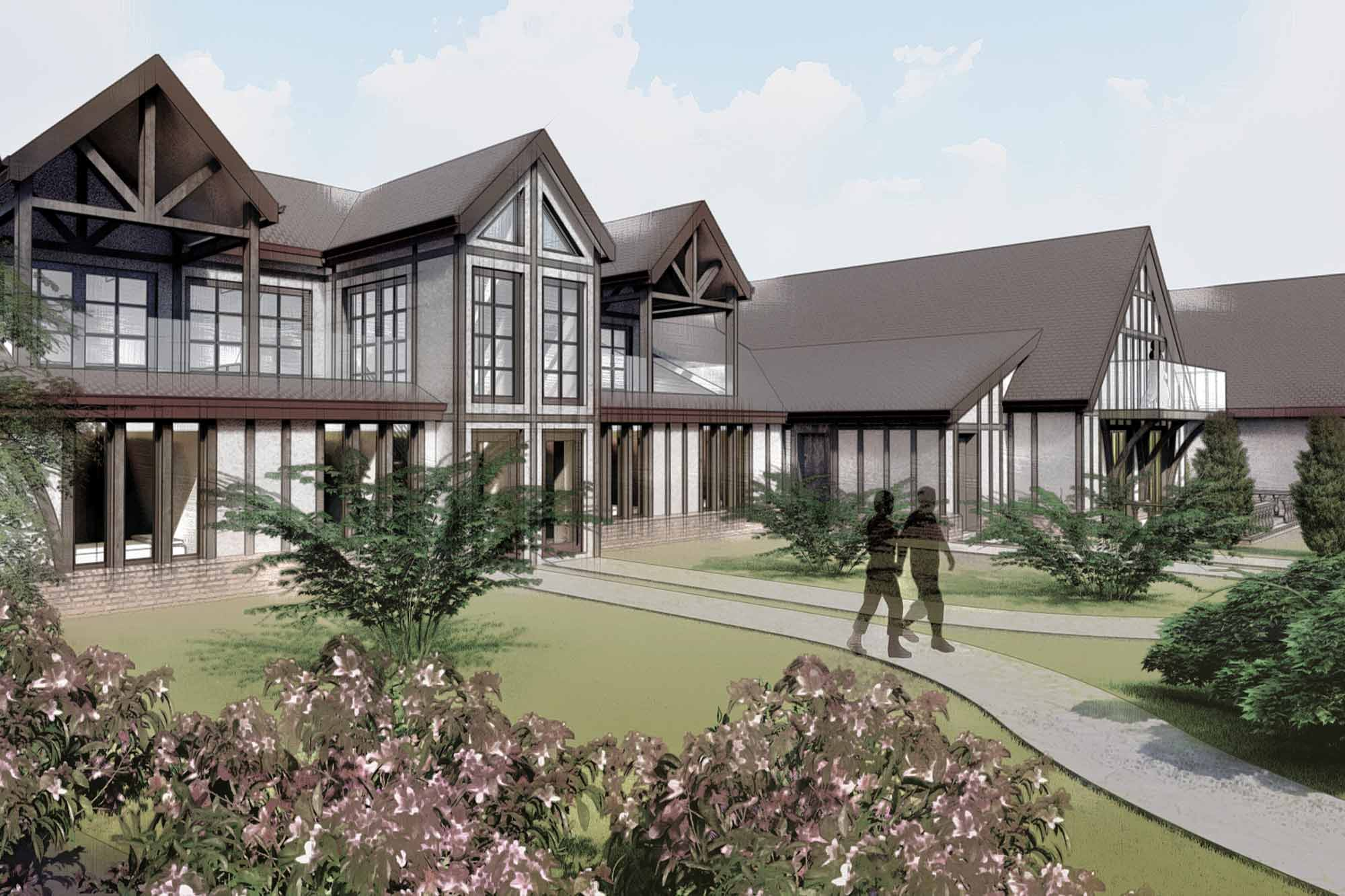 Redevelopment of an existing listed grand hall into five rustic cottages in Poulton-le-Fylde countryside, Lancashire