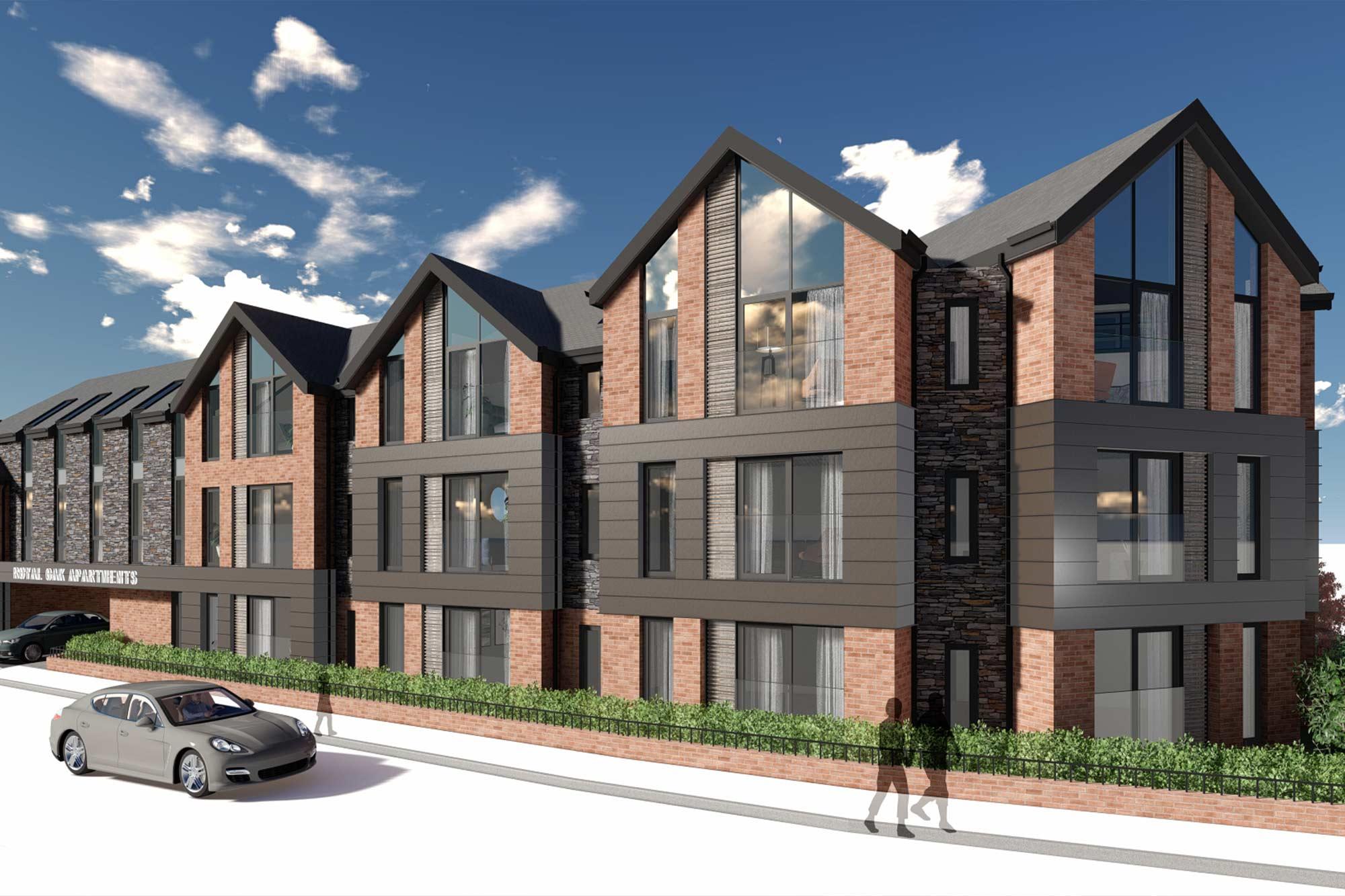 Royal Oak Apartments Residential Apartment Block in Poulton-le-Fylde, contemporary Victorian architecture