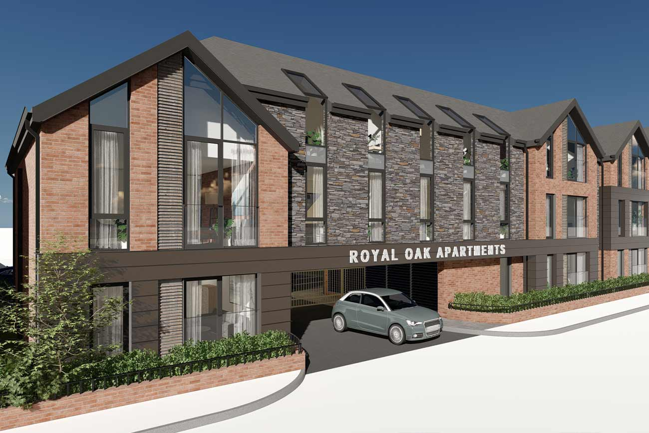3D Architectural ~Visualisation of the Royal Oak Apartments, by Zub Architecture
