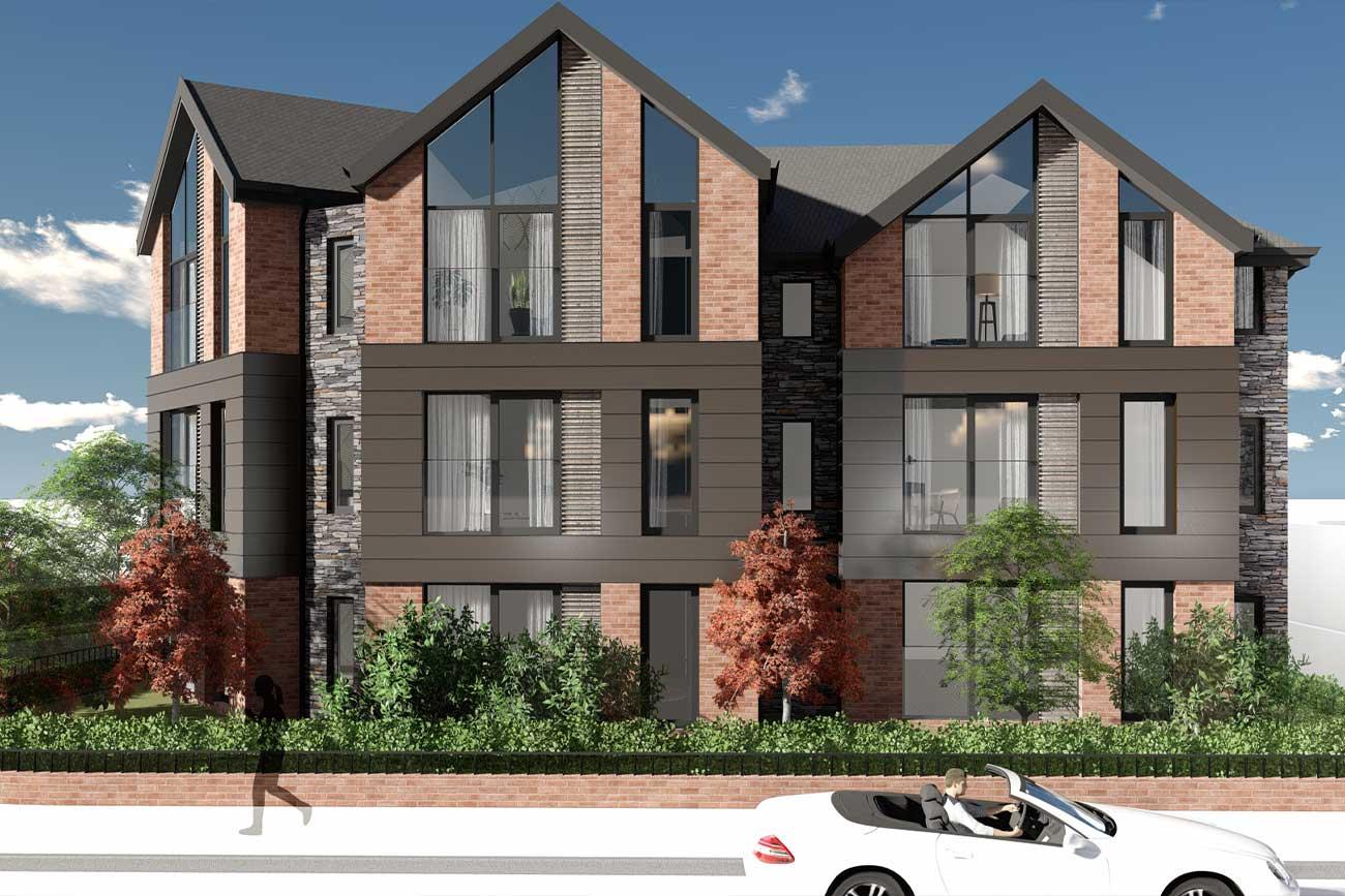 Royal Oak Apartments, 3D architectural visualisation