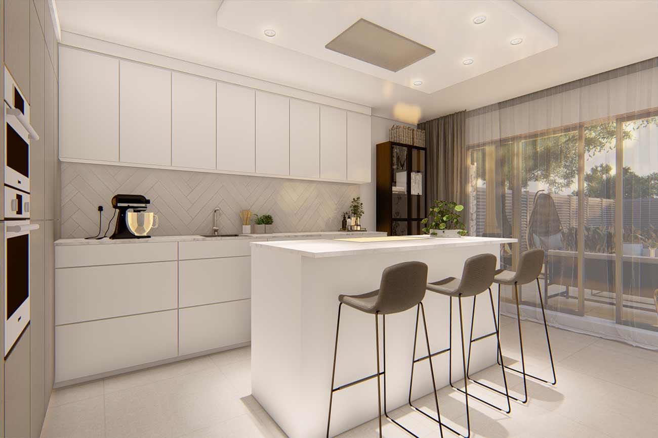 New build development kitchen interior design