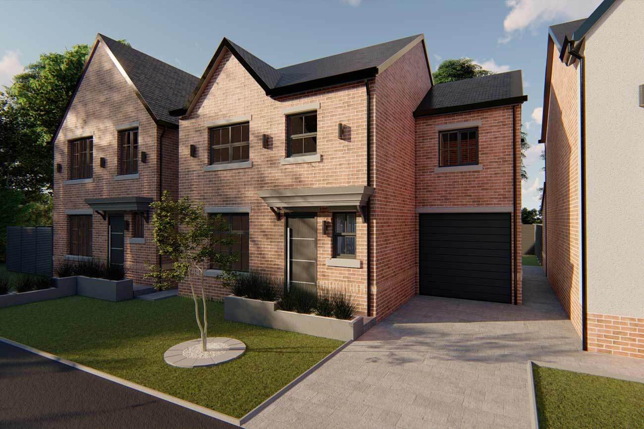 New build detached dwelling in Pilling Waters