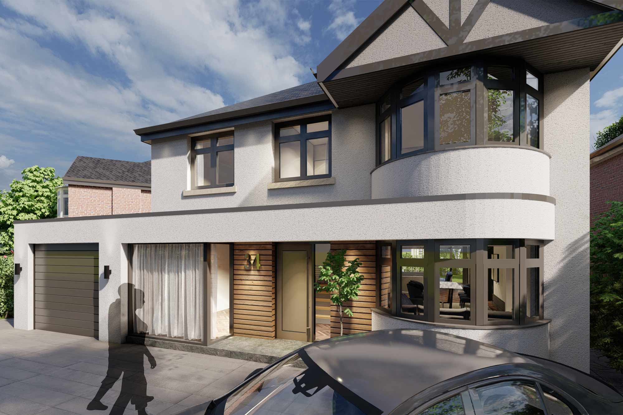 art deco inspired Victorian house remodel