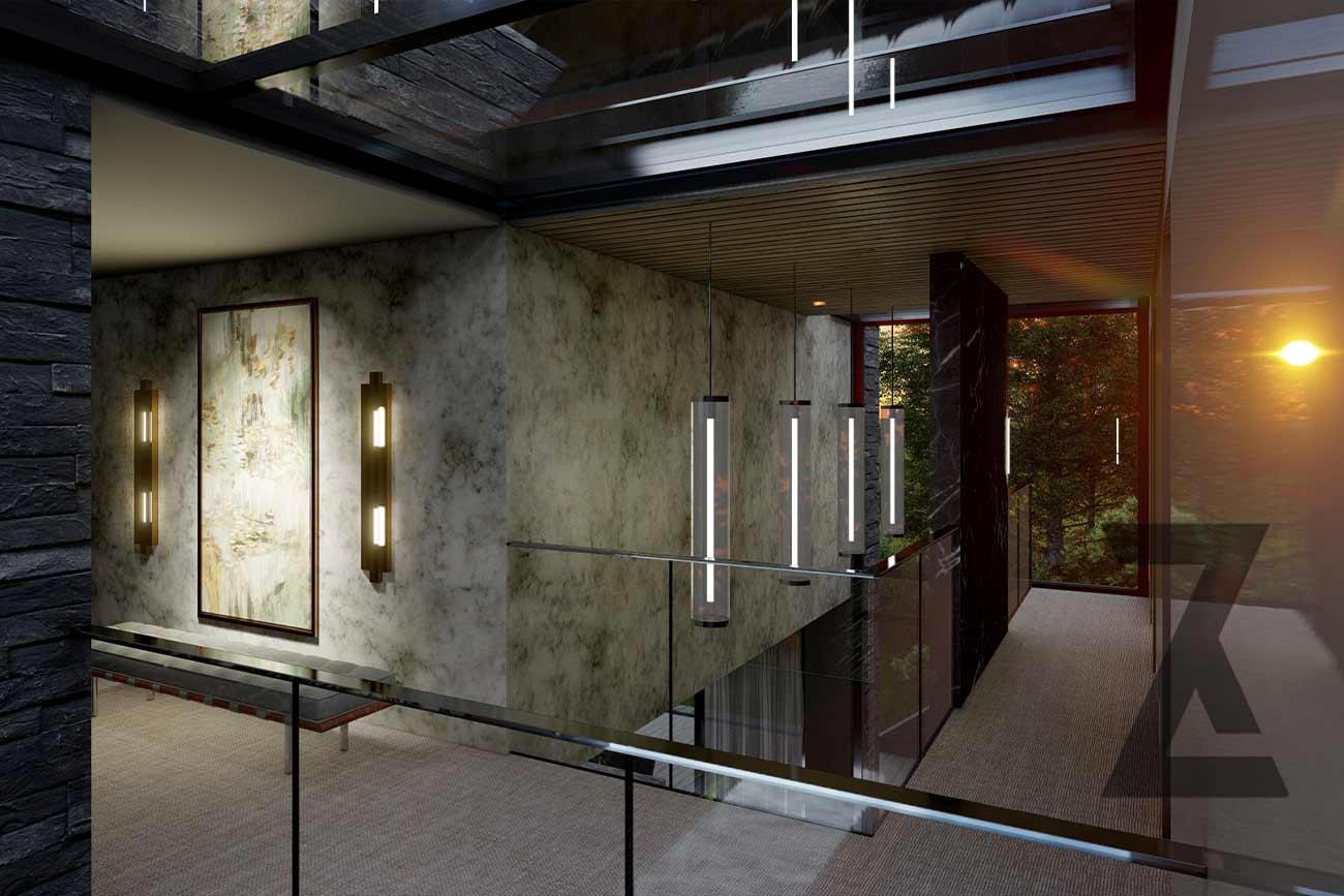 modern house hallway