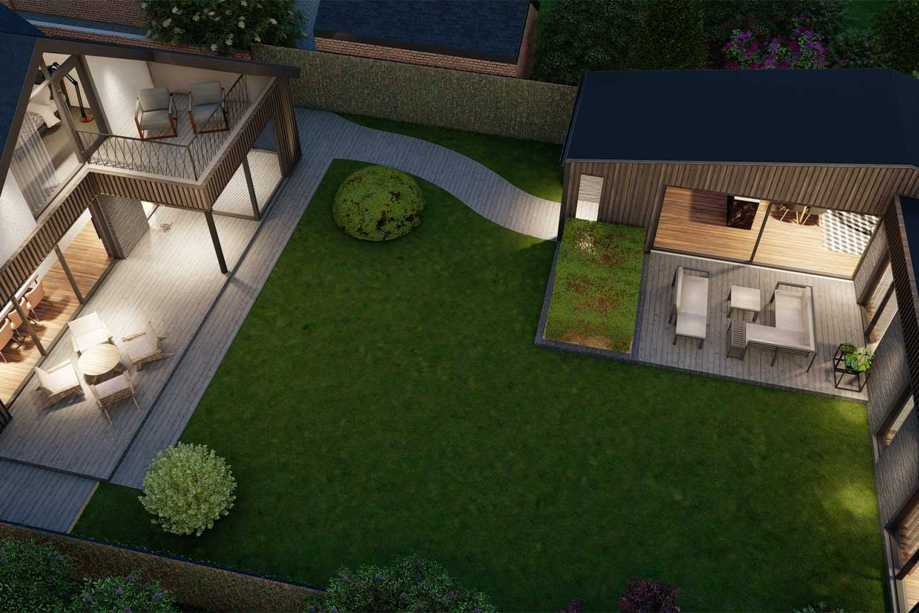 contemporary bungalow extension and granny annexe