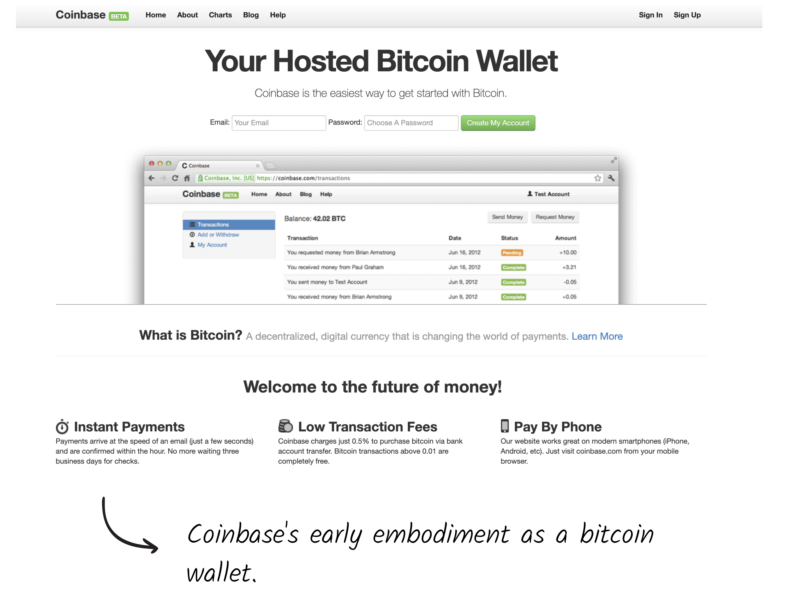 Coinbase.com in 2012