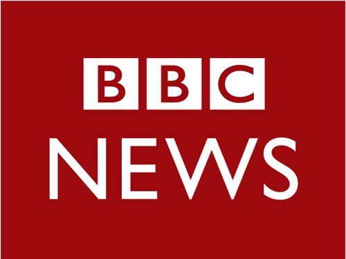 The official logo for the BBC News.