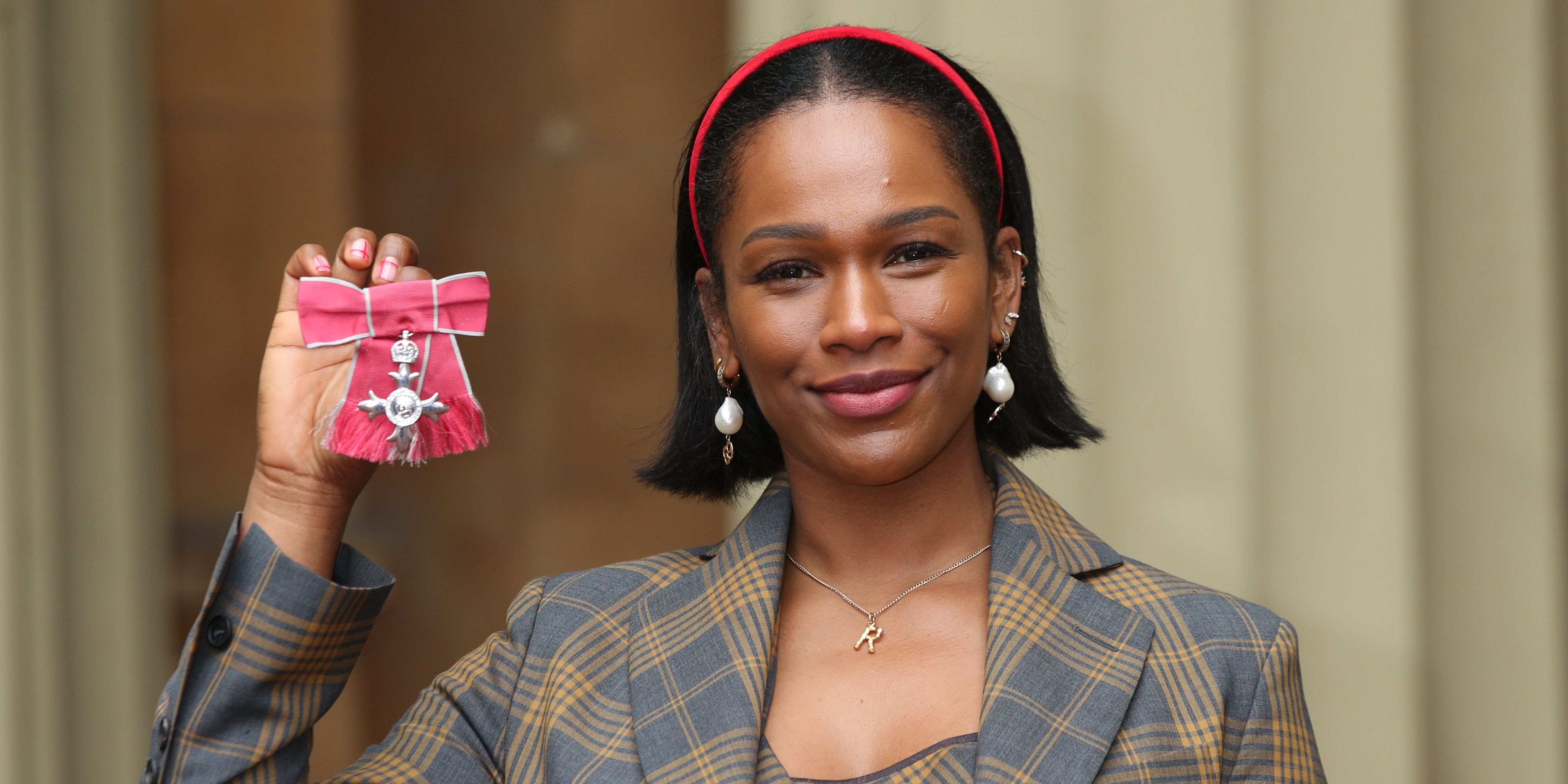 A picture of Sharmadean Reid with her MBE