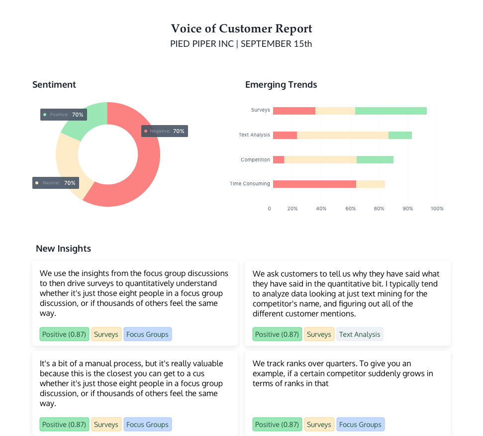 Discovery Sprints customer insights report