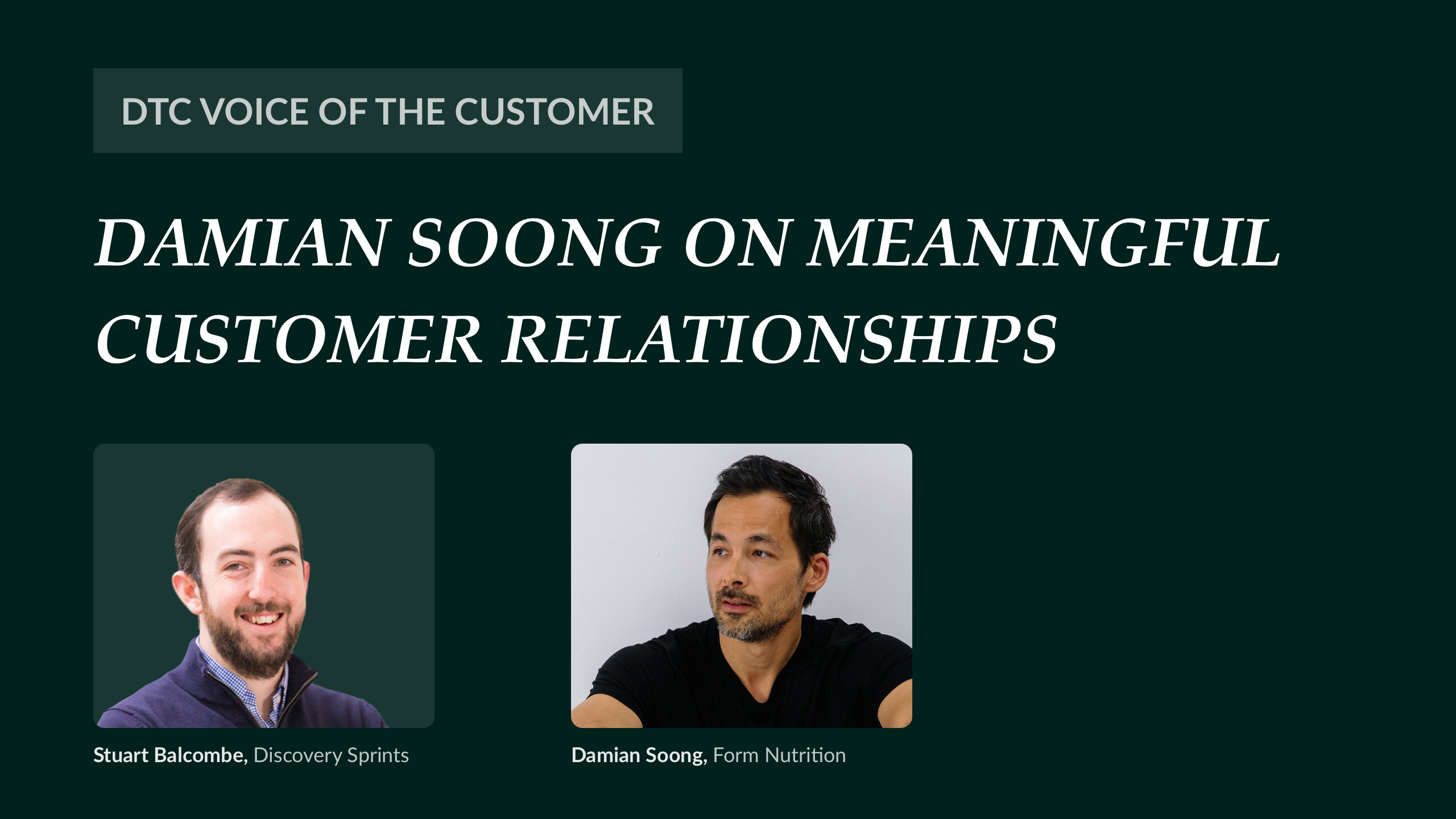 Damian Soong on meaningful customer relationships