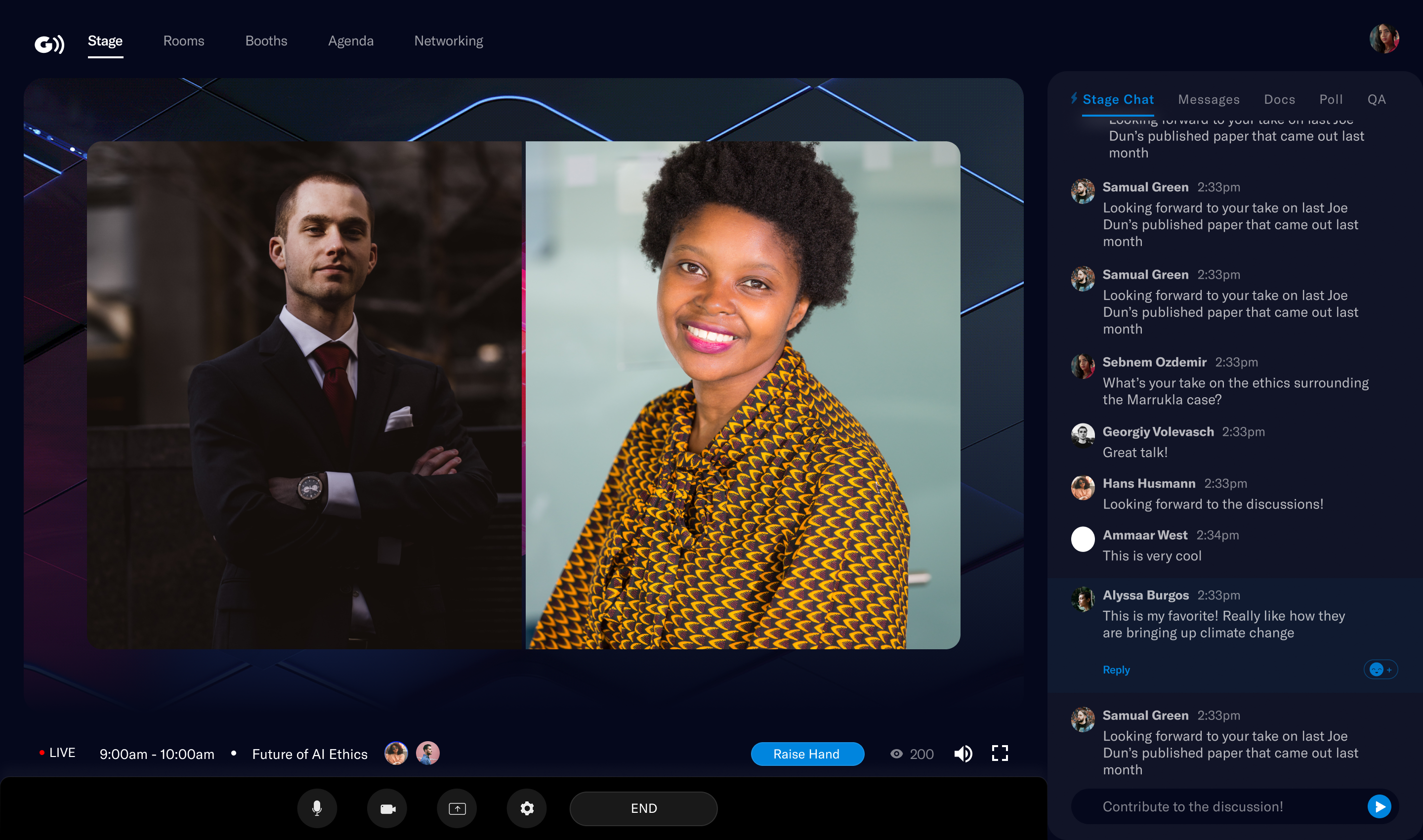 Goldcast makes it easy to capture event engagement data to instantly let the sales team know who's at the event so they can send personalized follow up.Now you can put a face to each attendee and instantly dig deeper into their real questions and objections.
