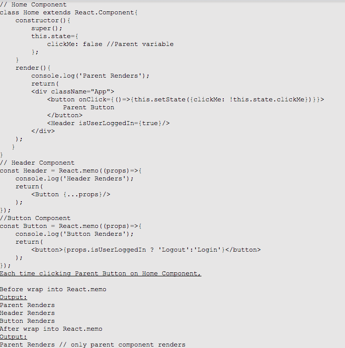 react.memo is react version 16.6.0