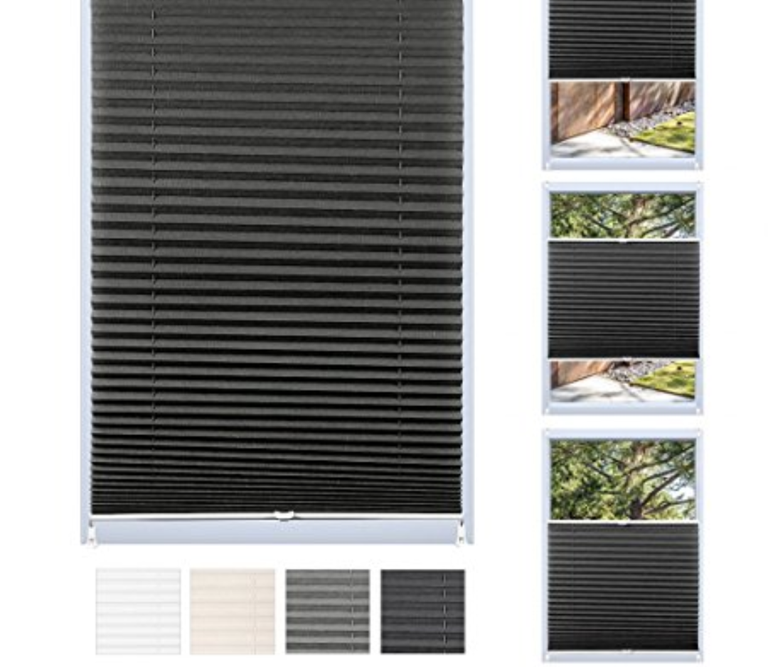 Black Pleated Blinds