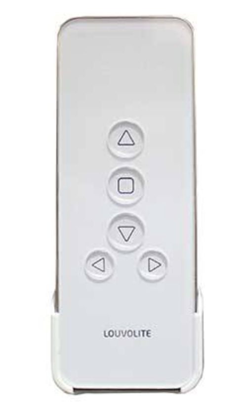 Louvolite remote for motorised blinds.